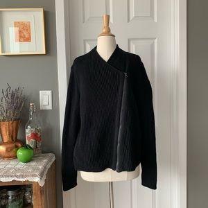Athleta black merino wool Stowe sweater